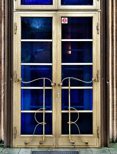 Art Deco door - close