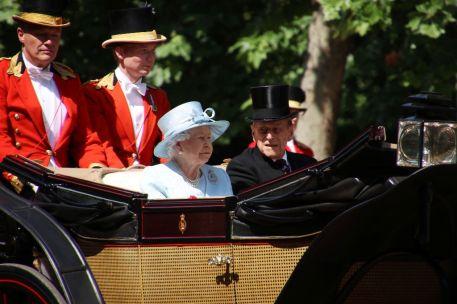 Trooping The Colour Queen Elizabeth II und Prinz Philip