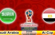 Soi kèo nhà cái Ả Rập Xê Út vs Ai Cập lúc 21h00 ngày 25/6