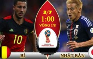 Tỷ lệ cược, kèo Bỉ vs Nhật Bản, 01h00 ngày 03/7