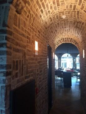 Inbouw wandlamp in halfsteensmuur