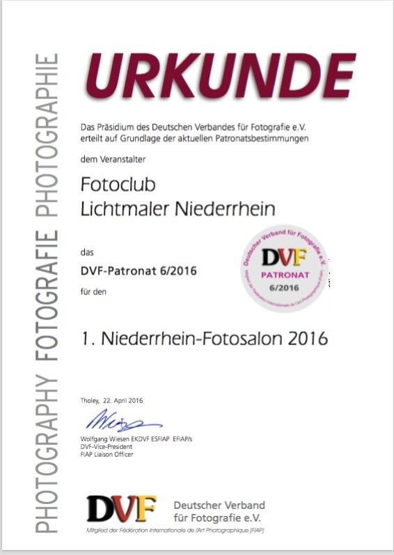 DVF Urkunde 2016