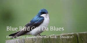 Blue bird...