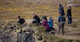 Fotografen am Vogelfelsen Látrabjarg