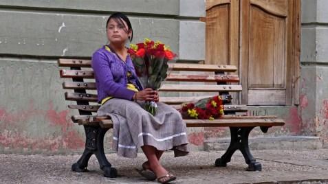 Blumenverkäuferin in Oaxaca