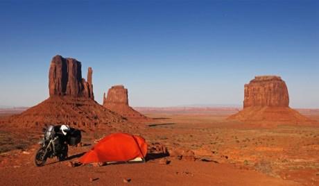 Campen im Monument Valley