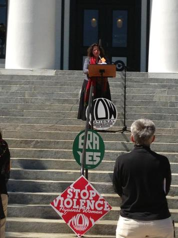 Licia reading from SOUL COMPOST at the Capitol on International Womens Day 2013