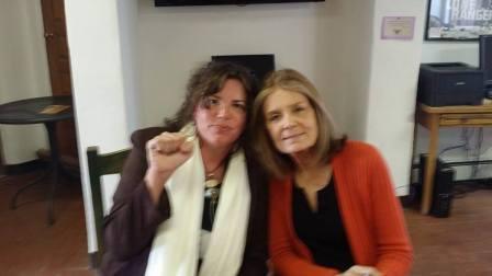 Licia Berry and Gloria Steinem 2014