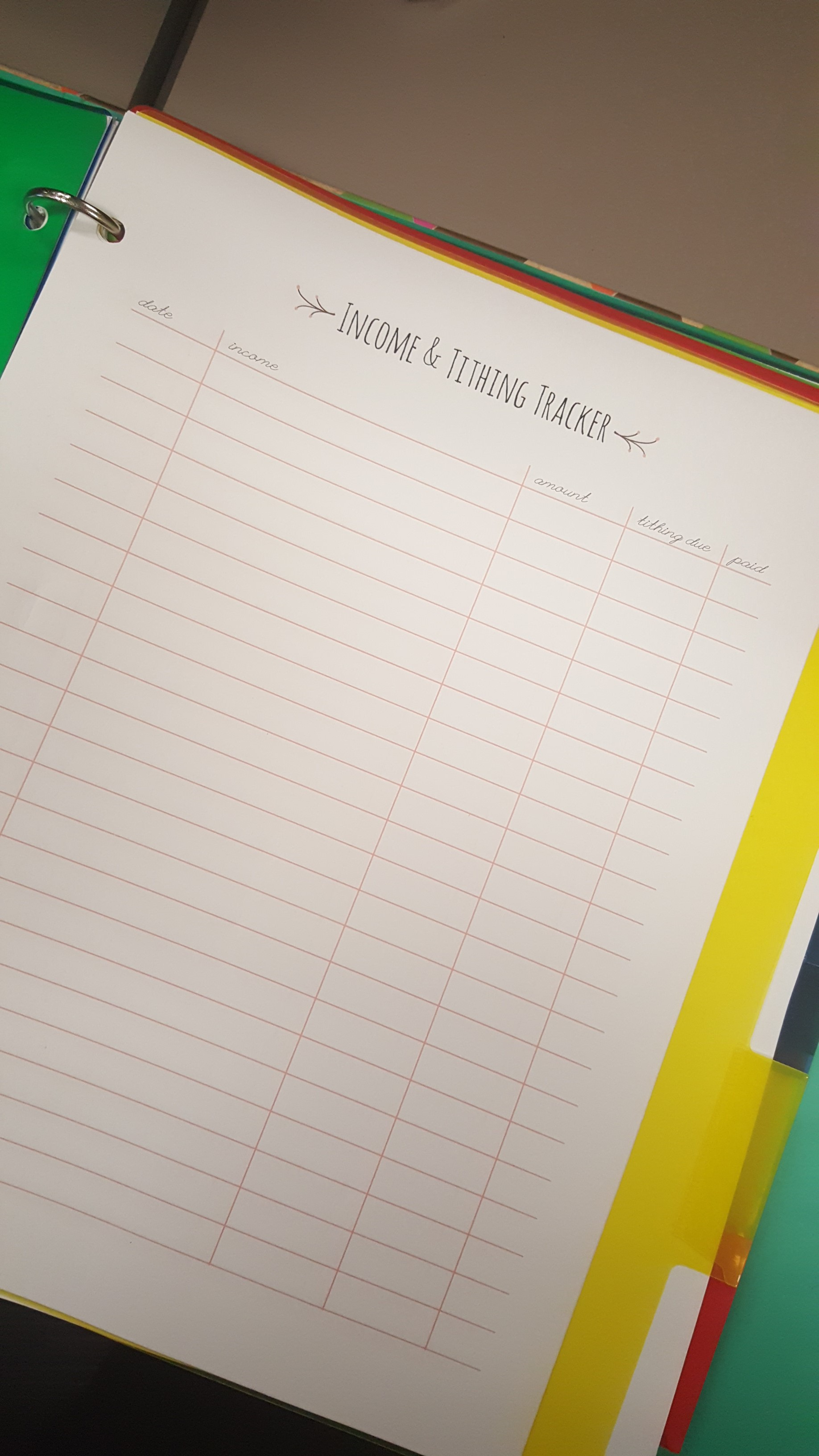 How To Create A Financial Budget Binder