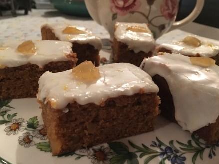 Iced Stem Ginger Cake