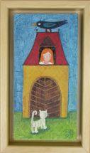 Deklica Delfina, 2011, akril na lesu, 14,5 x 24,5 cm, 120 eur,