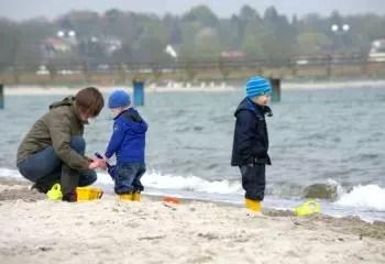 Toys Children Mother Human Beach Baltic Sea