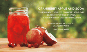 Vodka Smirnoff Sourced Cranberry Apple