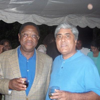 With Kenya's Attorney General, Amos Wako, 2006.