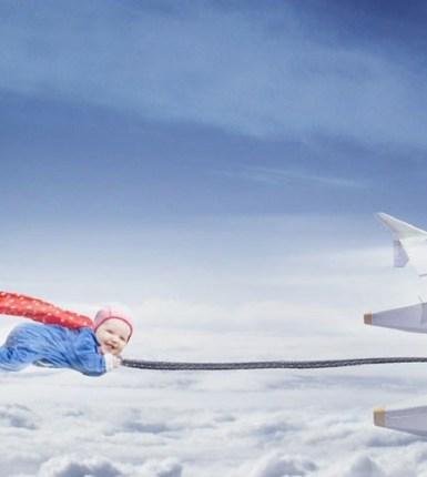 Volar con un bebé en tu regazo