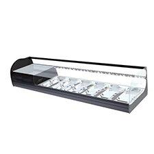 vitrina-refrigerada-cristal-doble-curva-ONIX-2-PISOS-6-negra-i90-barata-mini
