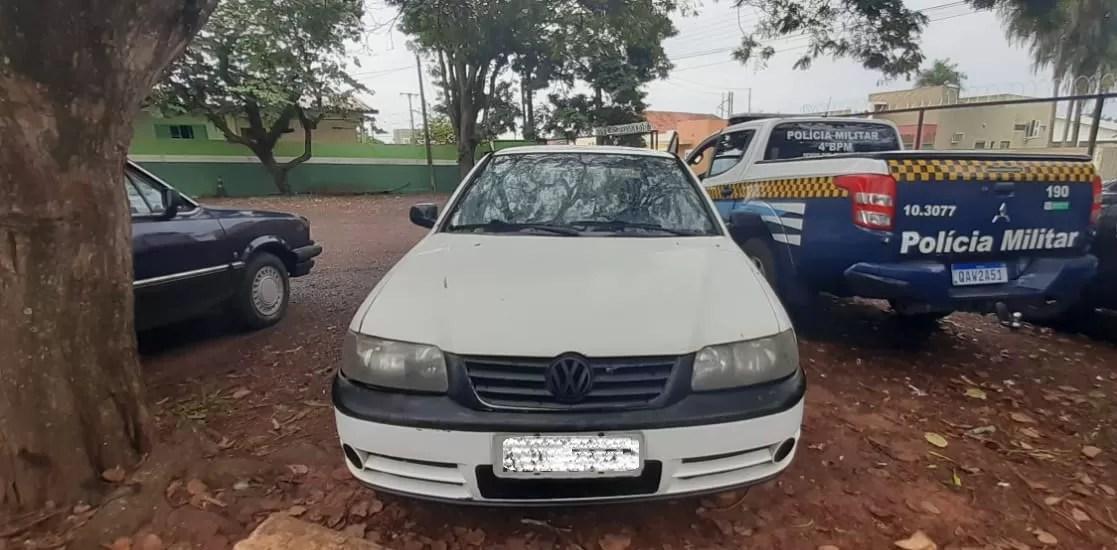 Polícia Militar recupera veículo em Ponta Porã