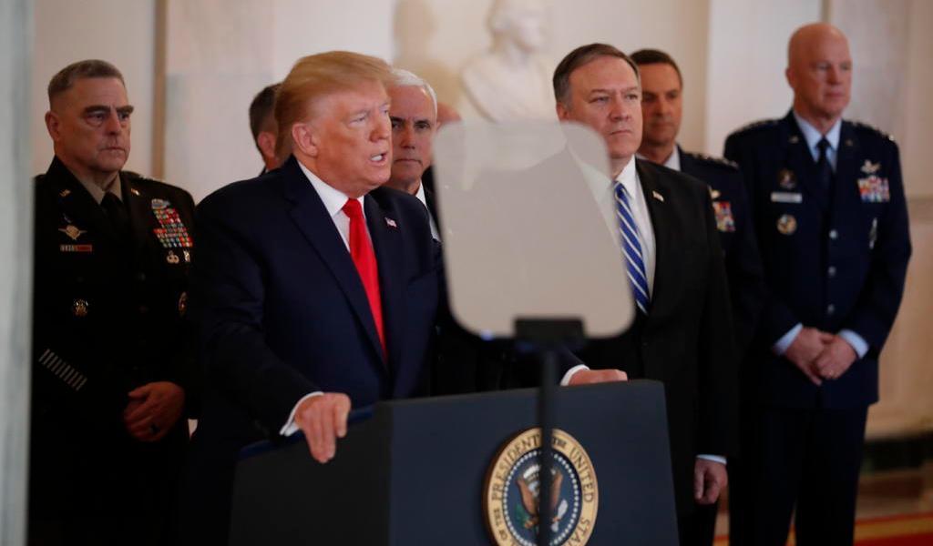 Pide Trump a potencias que rompan acuerdo con Irán para renegociar otro