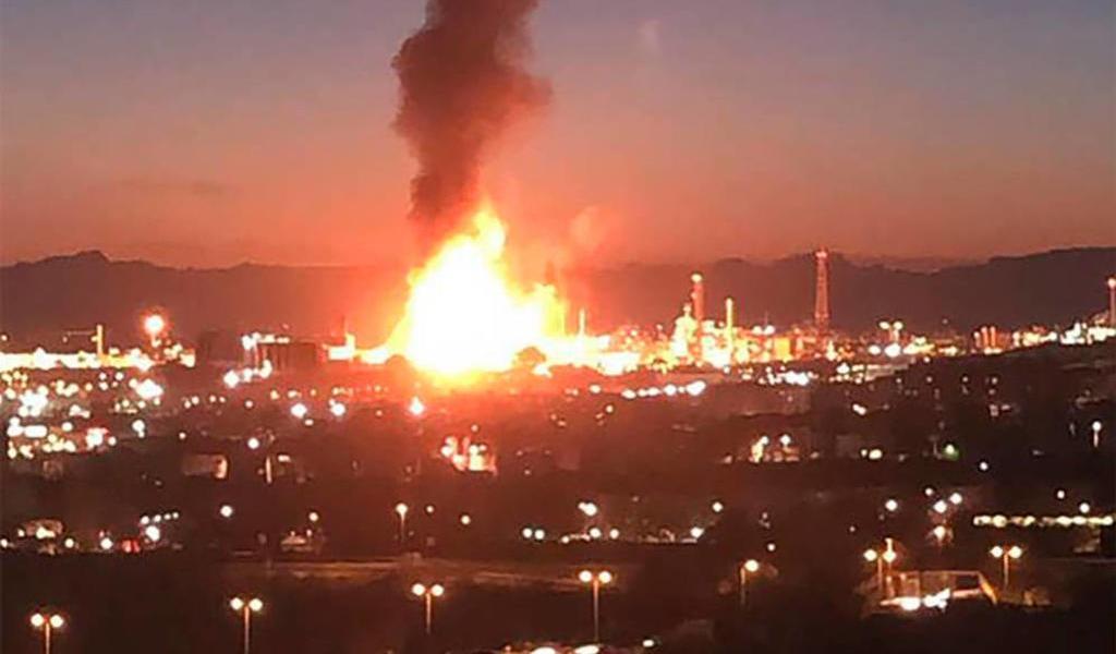 Alerta por explosión en zona industrial en España