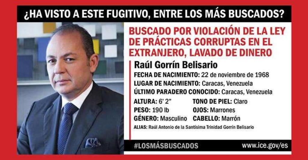 """Incluye EUA a empresario venezolano entre """"Los Más Buscados"""""""