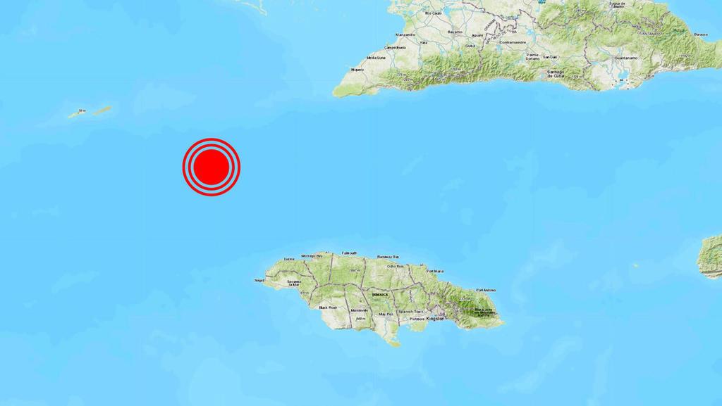 Se registra fuerte sismo entre Cuba y Jamaica