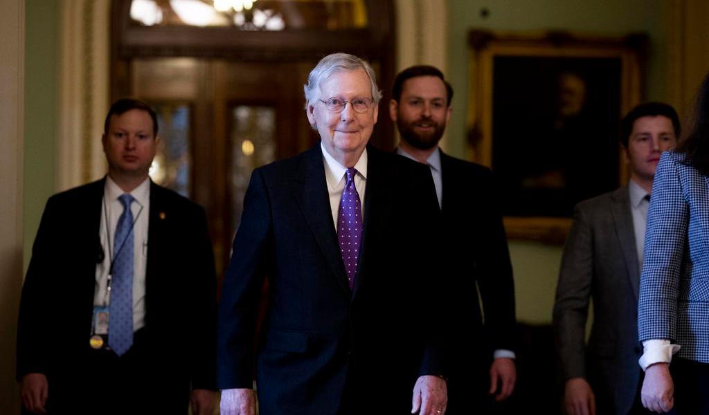 Anuncia MConnell que votará a favor de la absolución de Trump