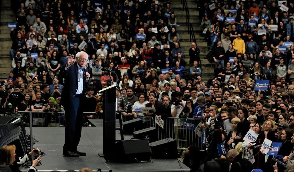 Bernie Sanders lidera en contiendas de Nuevo Hampshire