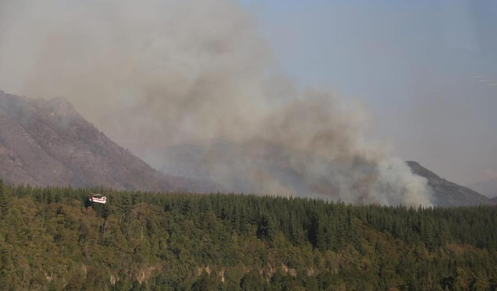 Incendio cerca de parque nacional, uno los más grandes de historia de Chile