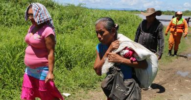 Más de 800 campesinos colombianos han sido desplazados por grupos armados