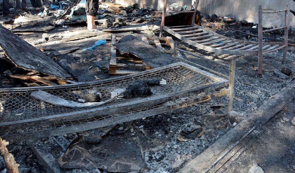 Muere en incendio niña refugiada