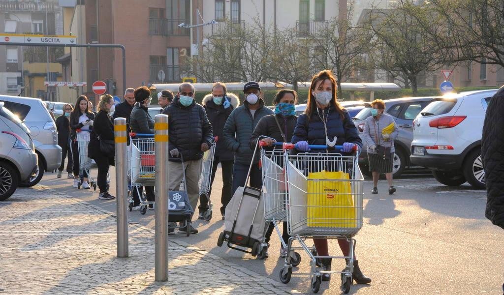 Italia contabiliza 4,825 fallecidos con coronavirus