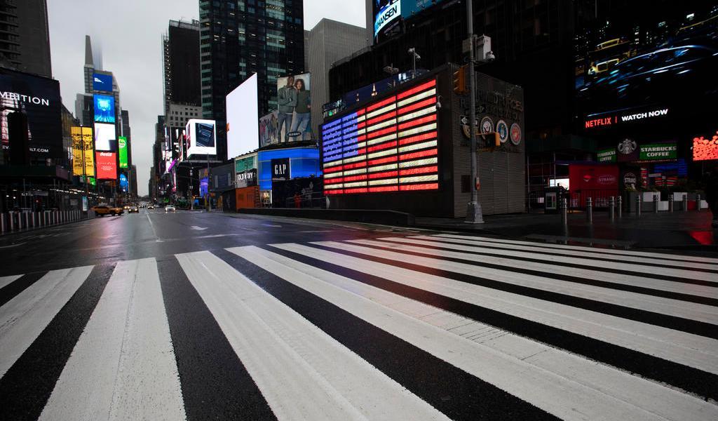 Nueva York, insólitas imágenes de una ciudad desolada por el coronavirus