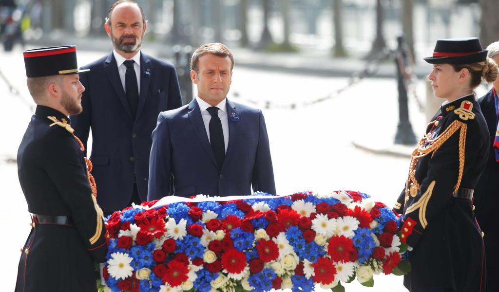 Por COVID-19, conmemoran con austeridad el fin de la II Guerra Mundial en París