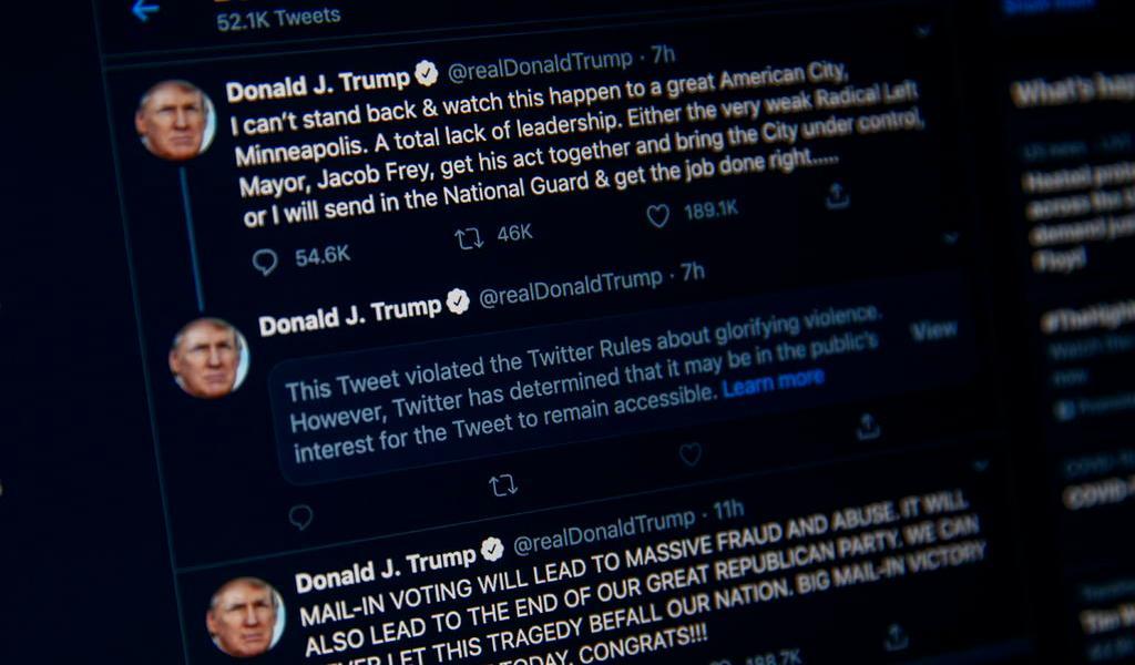 Twitter señala un tuit de Trump por 'enaltecer la violencia'