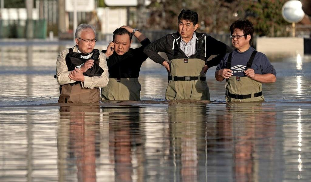 Suman 40 muertos en Japón por fuertes lluvias e inundaciones