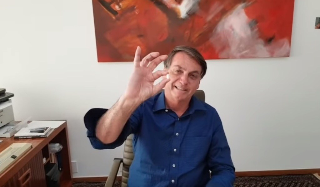 Hidroxicloroquina me curará: Jair Bolsonaro