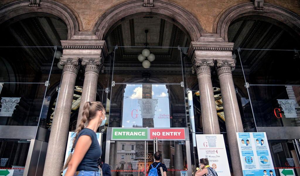 Repuntan casos de COVID-19 en Italia; registra más de 500 en el último día