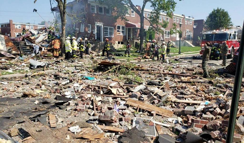 Reportan gran explosión en área residencial de Baltimore