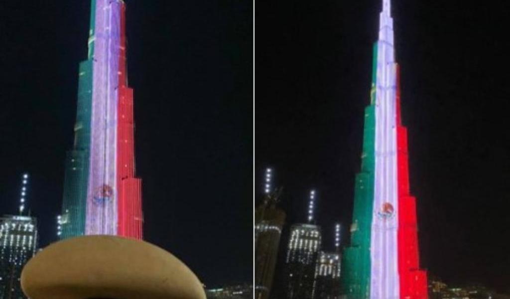 Emiratos Árabes proyectan bandera de México en Burj Khalifa