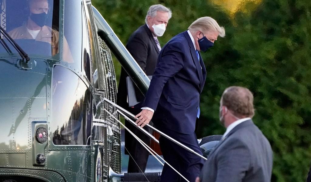 Internan a Trump en hospital militar