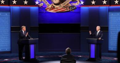 Trump y Biden se alistan para su último debate
