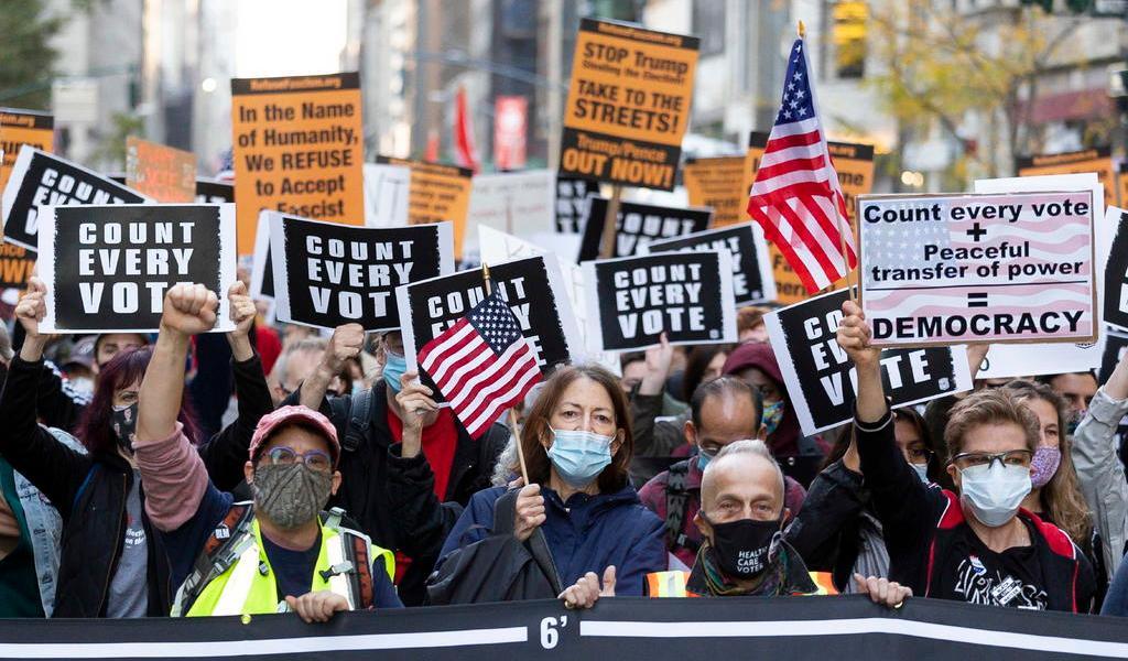 Nueva York celebra en las calles victoria de Joe Biden sobre Donald Trump