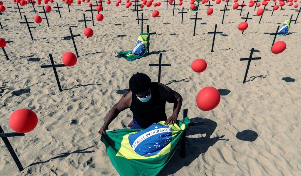 Brasil al borde de los 190 mil muertos por COVID-19