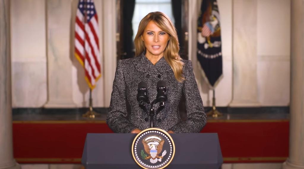 Melania Trump comparte mensaje a dos días de dejar la Casa Blanca