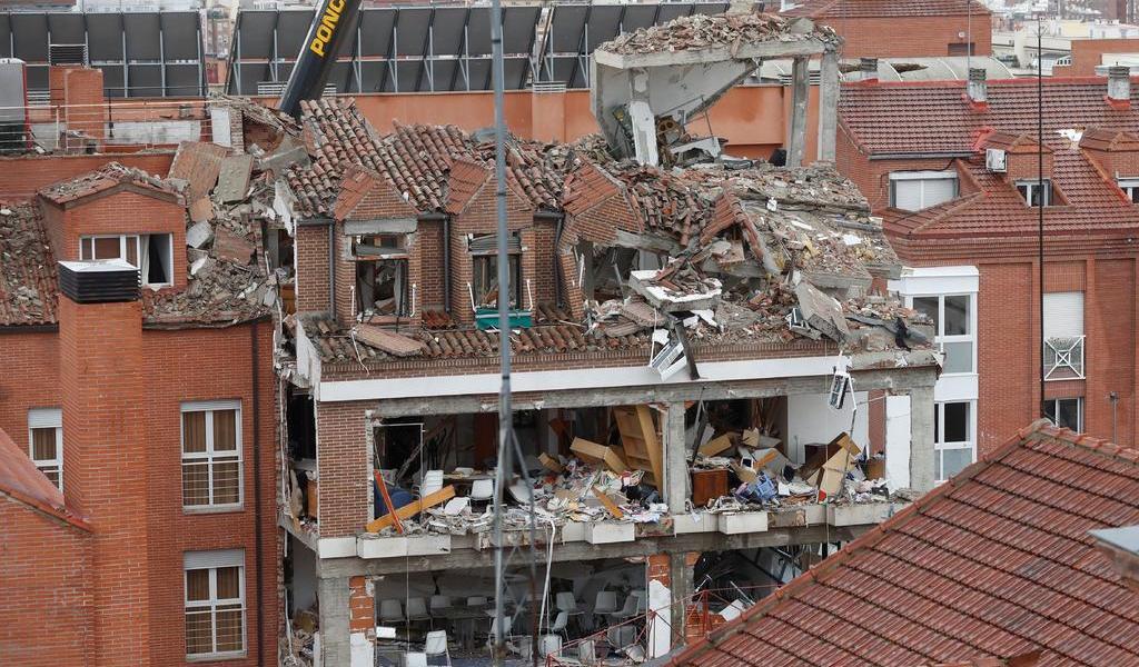 Asegura Policía que explosión en Madrid fue por fuga de gas en el exterior