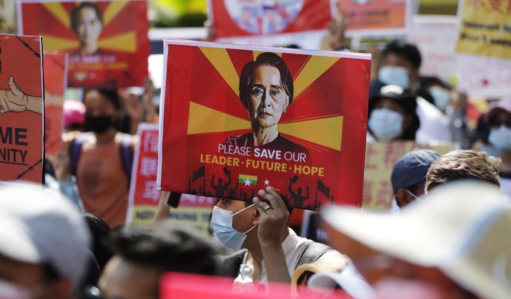 Amplían detención de presidenta electa en Myanmar