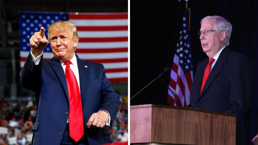 Trump pide a republicanos reemplazar a Mitch McConnell como líder en el Senado