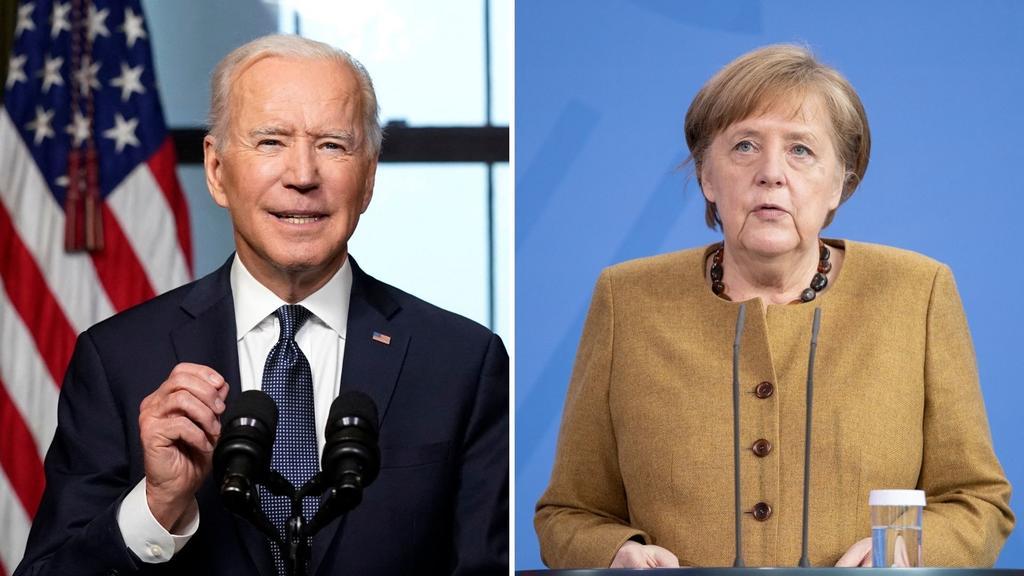 Biden y Merkel apoyarán esfuerzos para lograr la paz en Afganistán