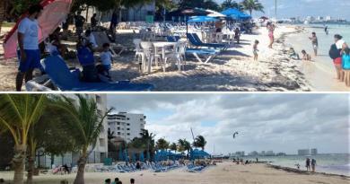 """¡Esta playa de Cancún ya es """"pública"""" otra vez! Retiran camastros en renta"""