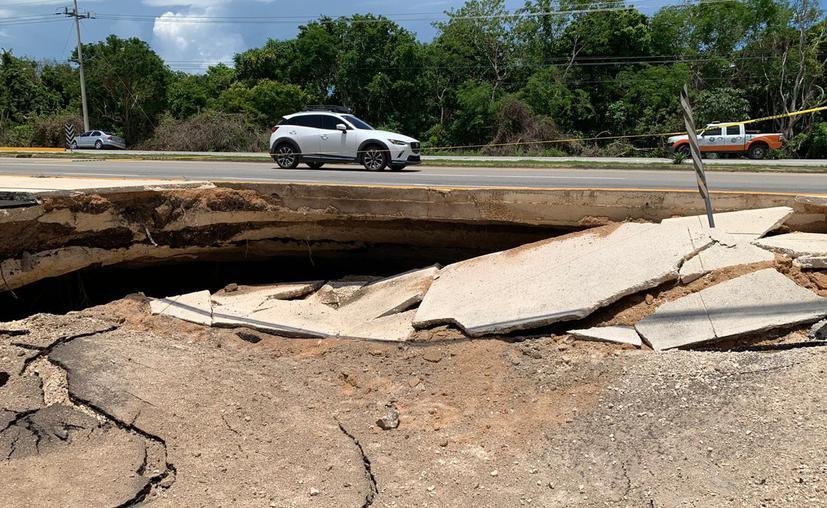 Construirán estructura en la carretera derrumbada Tulum – Playa del Carmen